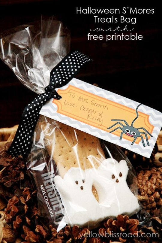 *Halloween Smores treat bag with free printable