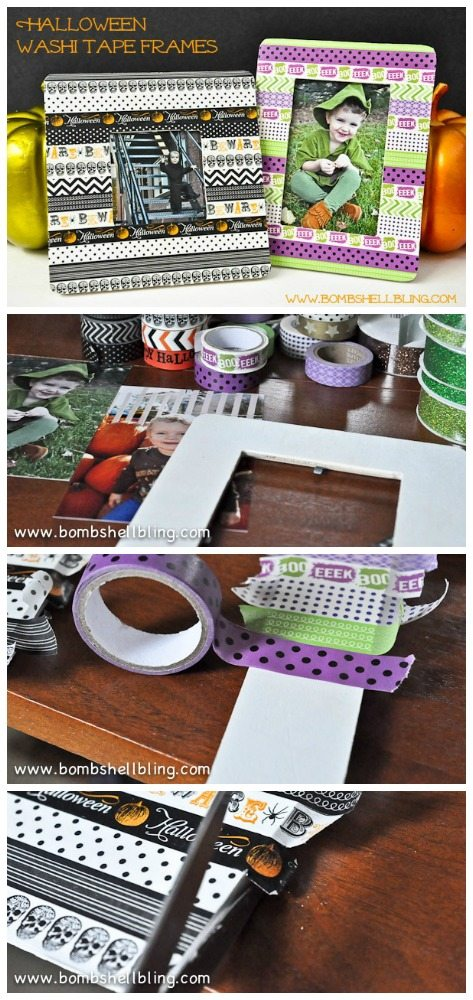 I love this Halloween washi!!  These frames are so cute but look so simple to make!