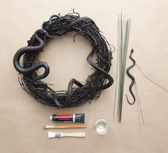Martha Stewart Halloween Snake Wreath