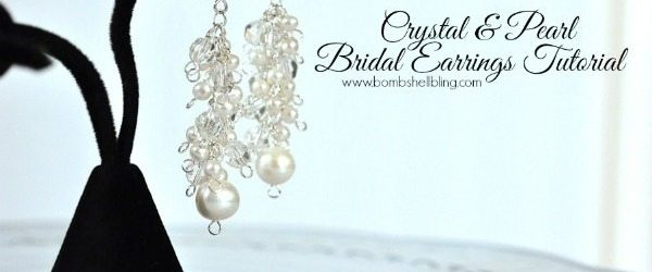 Crystal & Pearl Bridal Earrings