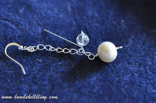 Pearl and Crystal Cluster Earrings-18