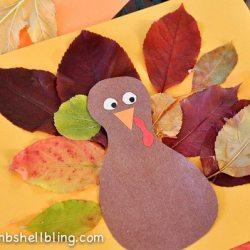 Turkey Leaf Placemat and Blog Hop
