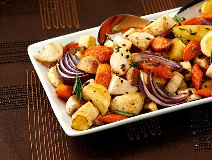 BBB herb roasted root vegetables