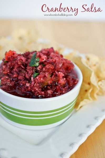 Cranberry salsa is a unique take on a traditional holiday food. Quick and easy to make, it's the perfect appetizer to serve at any holiday party!