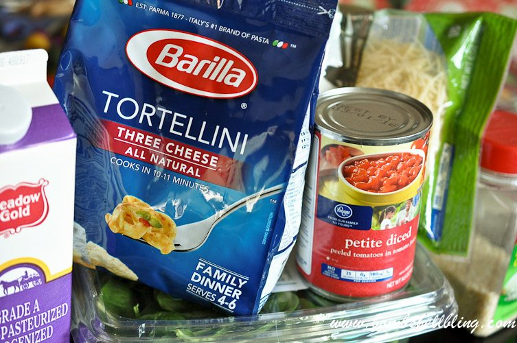This creamy spinach tomato tortellini recipe is a rich yet simple dinner that the whole family will enjoy. It's quick and easy for busy nights.
