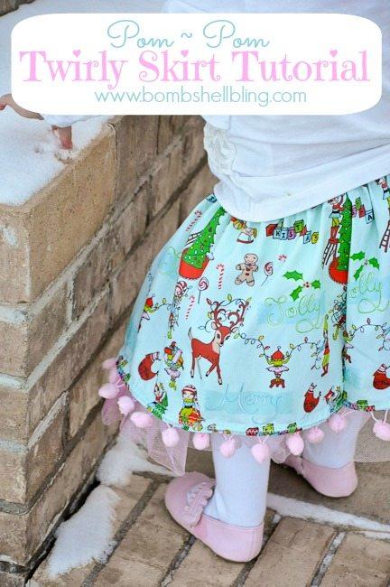 Pom Pom Twirly Skirt Tutorial from Bombshell Bling