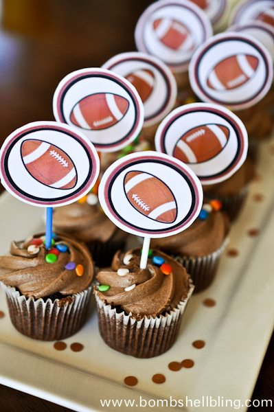 Football Mini Cupcake Toppers-1