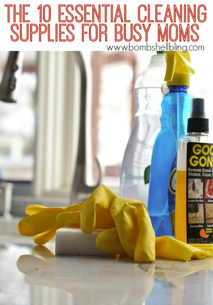 *The 10 Essential Cleaning Supplies for Busy Moms