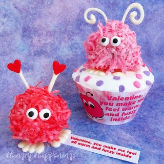 +Valentine's Day cupcake recipe, recipes, edible crafts, craft, wrapper, customized, printable, warm fuzzy cupcakes