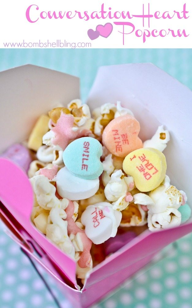 Conversation Heart Popcorn Recipe