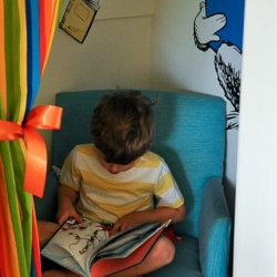 Dr. Seuss Room: A Simple Curtain for a Closet Reading Nook