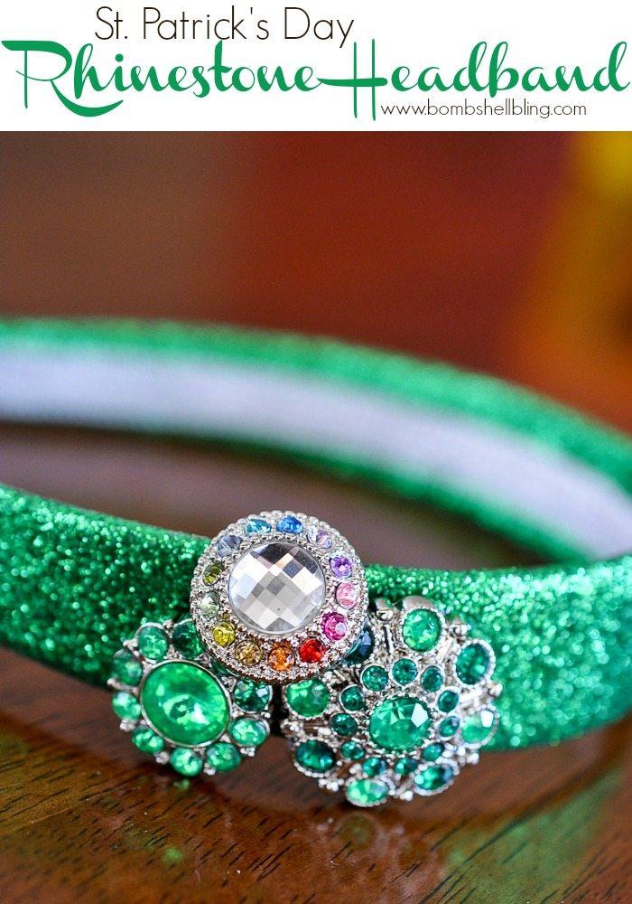 St. Patrick's Day Rhinestone Headband from Bombshell Bling