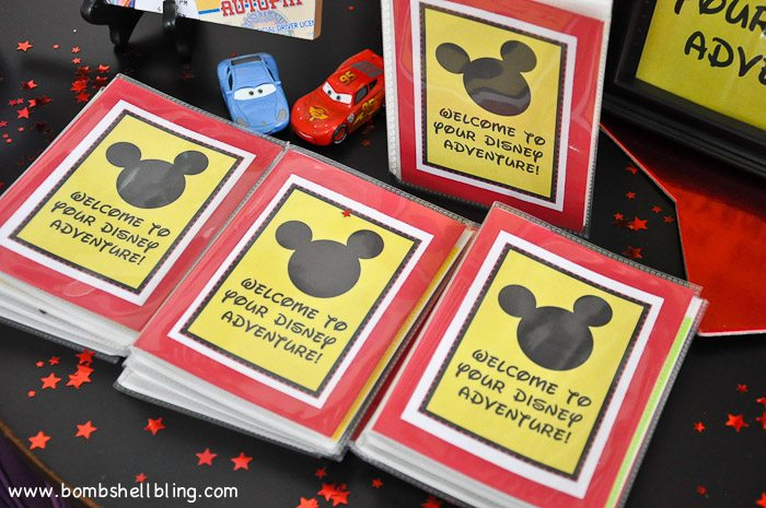 Adventure passports cover for disney birthday party