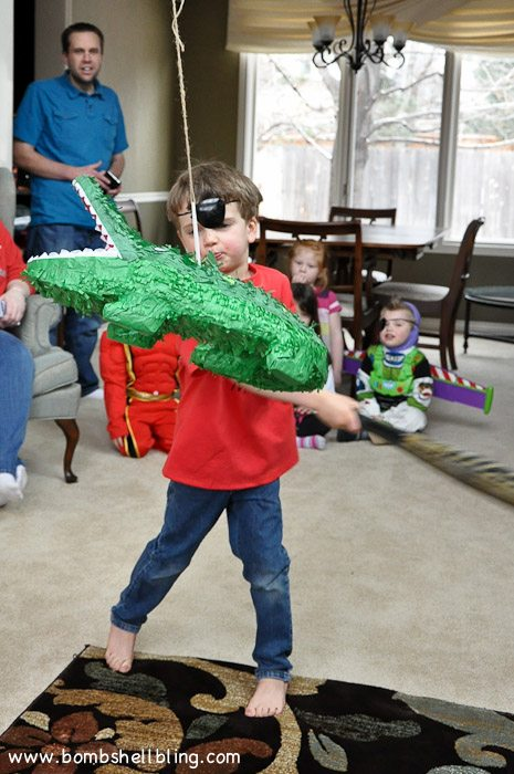 Crocodile pinata---perfect for a Peter Pan birthday party!