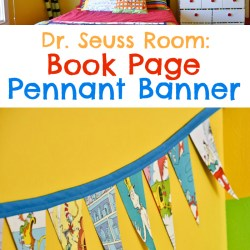 Dr. Seuss Room: Book Page Pennant Banner
