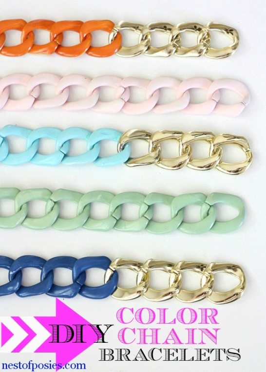 KDIY-Chain-Bracelet-with-a-Pop-of-Color