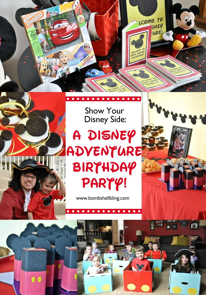 Disney birthday party pin collage