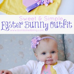 Simple & Sweet Easter Bunny Outfit & Easter Blog Hop