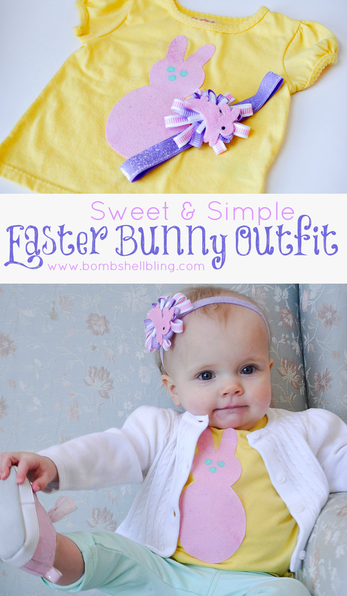 I love this sweet outfit for Easter! So easy to make!