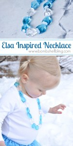 Make your little princess an Elsa Frozen Inspired Necklace with this simple tutorial!