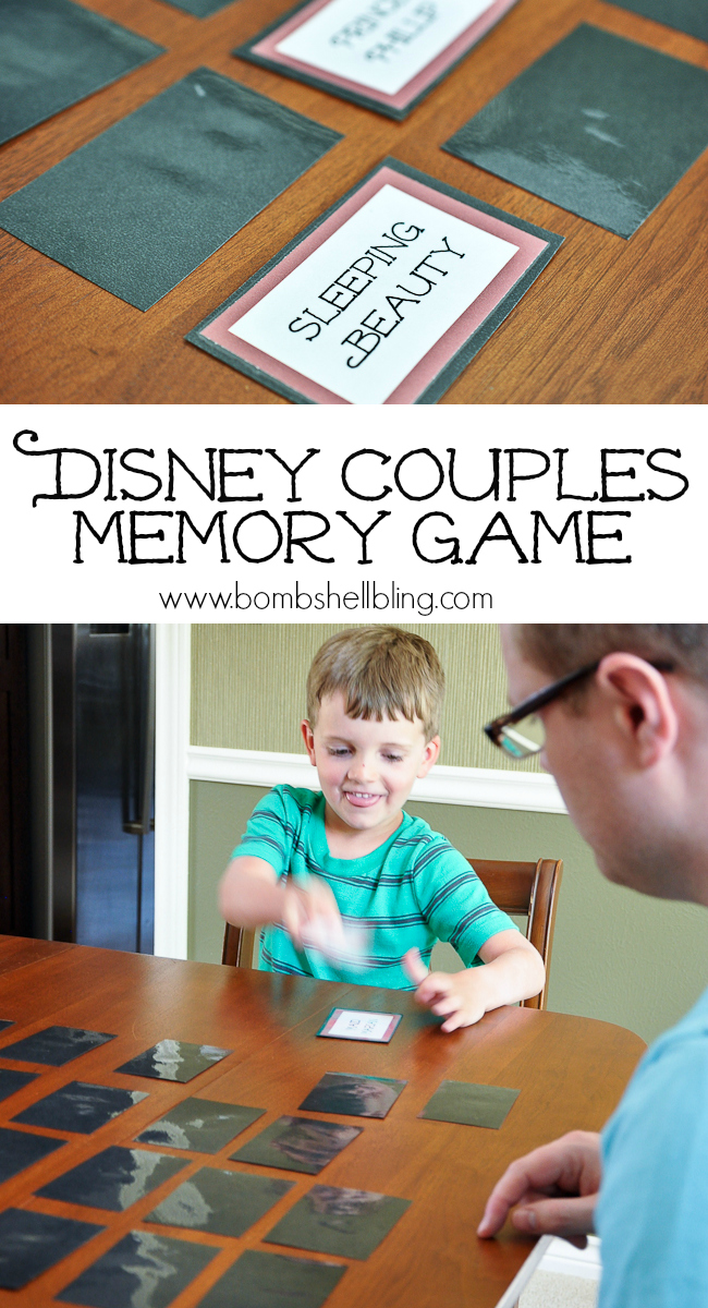 Disney Couple Memory Game