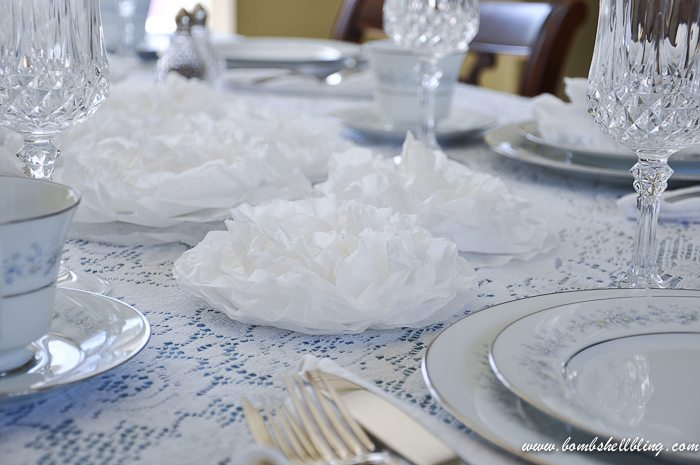 Coffee Filter Flowers - Perfect cheap decor for a wedding, party, or shower!