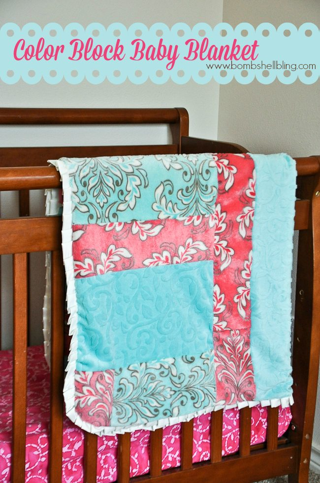 Color Block Baby Blanket
