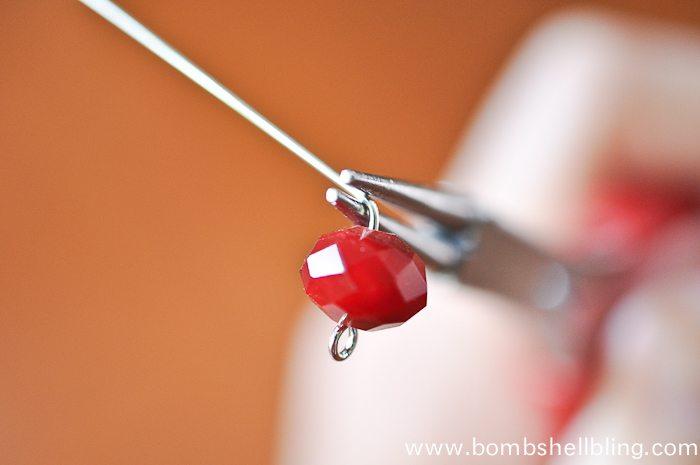 Red Dangle Earrings-4