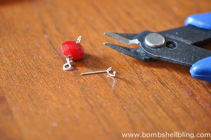 Red Dangle Earrings-7