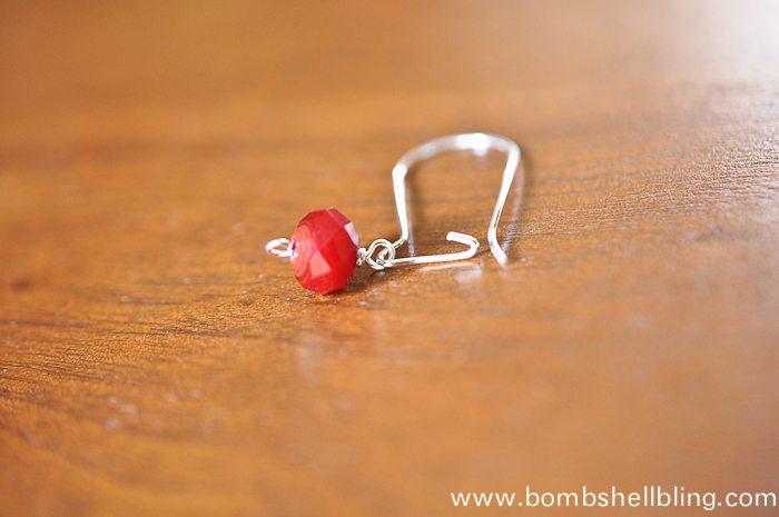 Red Dangle Earrings-8