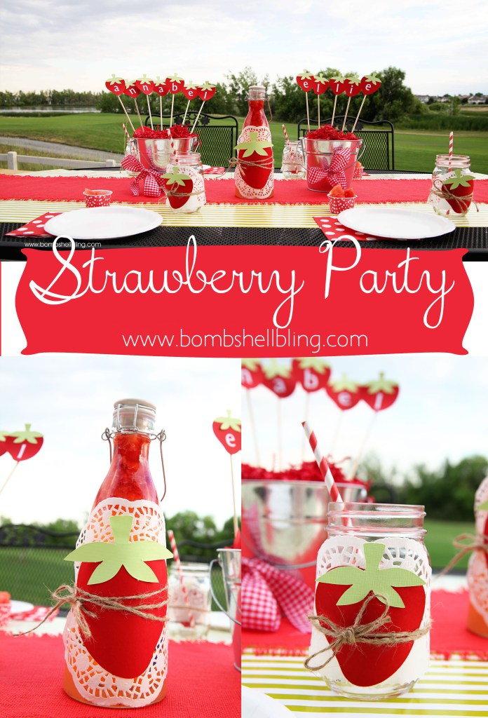 Strawberry Themed Birthday Party