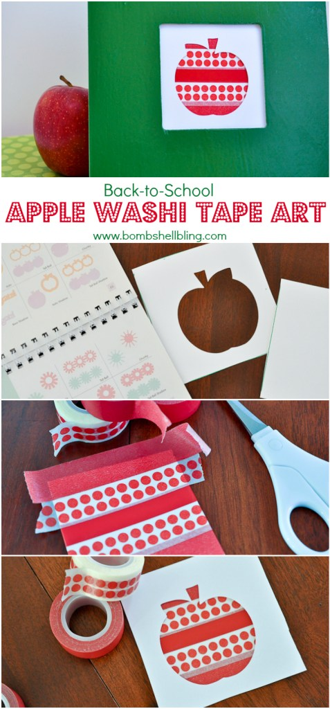 Back to School Apple Washi Art