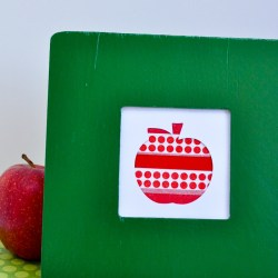 Back-to-School Apple Washi Tape Art