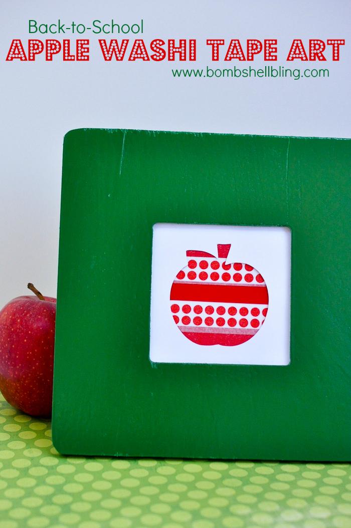 Apple Washi Tape Art by Bombshell Bling