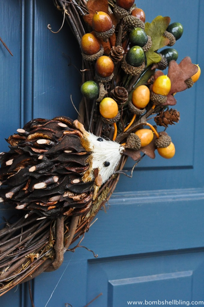Fall Hedgehog Wreath-2