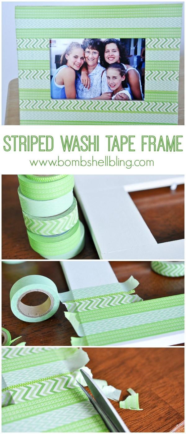 Washit tape frame long pin collage