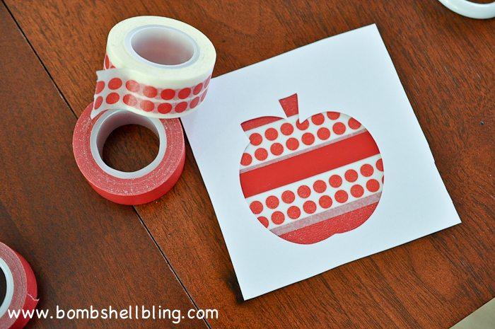 Washi Tape Apple Art-5