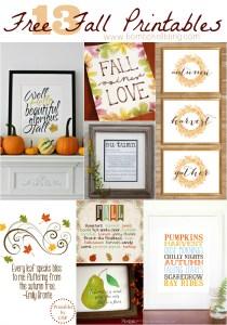 13 Free Fall Printables
