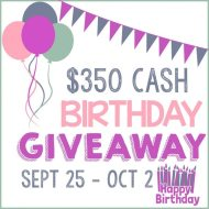 $350 Cash Birthday Giveaway