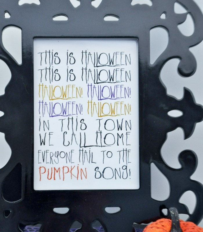 Halloween printables Nightmare Before Christmas saying
