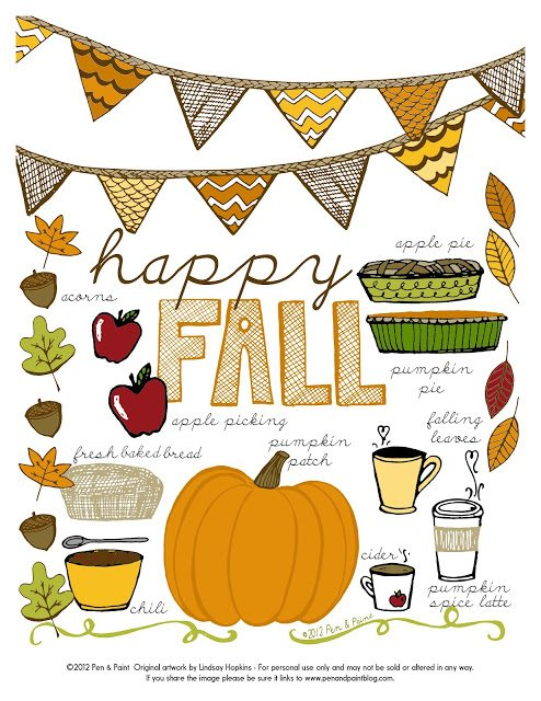 Free Fall Printables happy fall printable