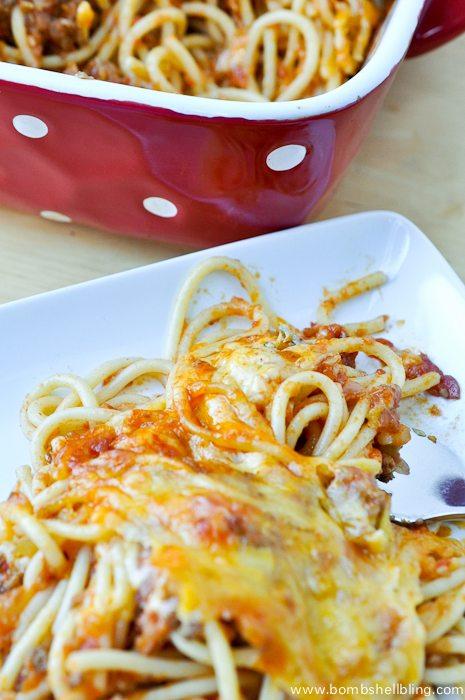 Grandma's Zesty Baked Spaghetti Recipe