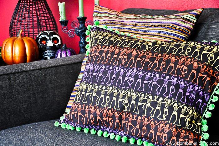 Dia De Los Muertos Pom Pom Pillows-10