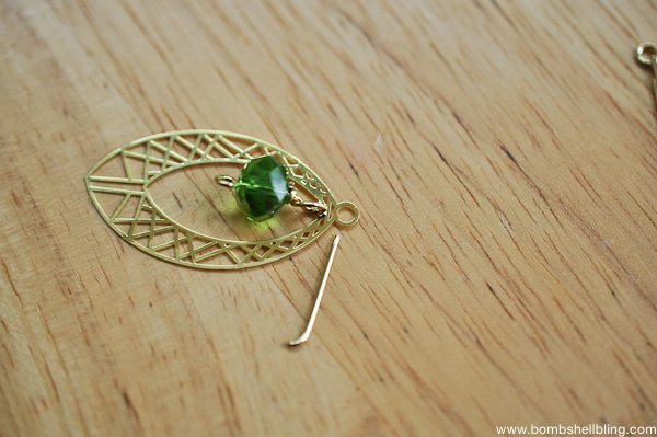 Gold & Green Earrings Tutorial CC-10