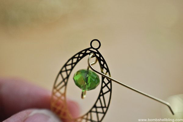Gold & Green Earrings Tutorial CC-7