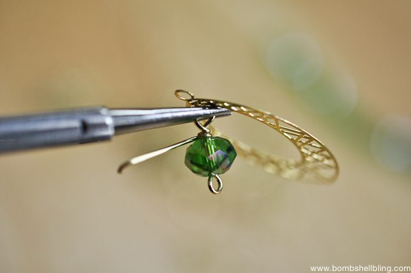 Gold & Green Earrings Tutorial CC-9