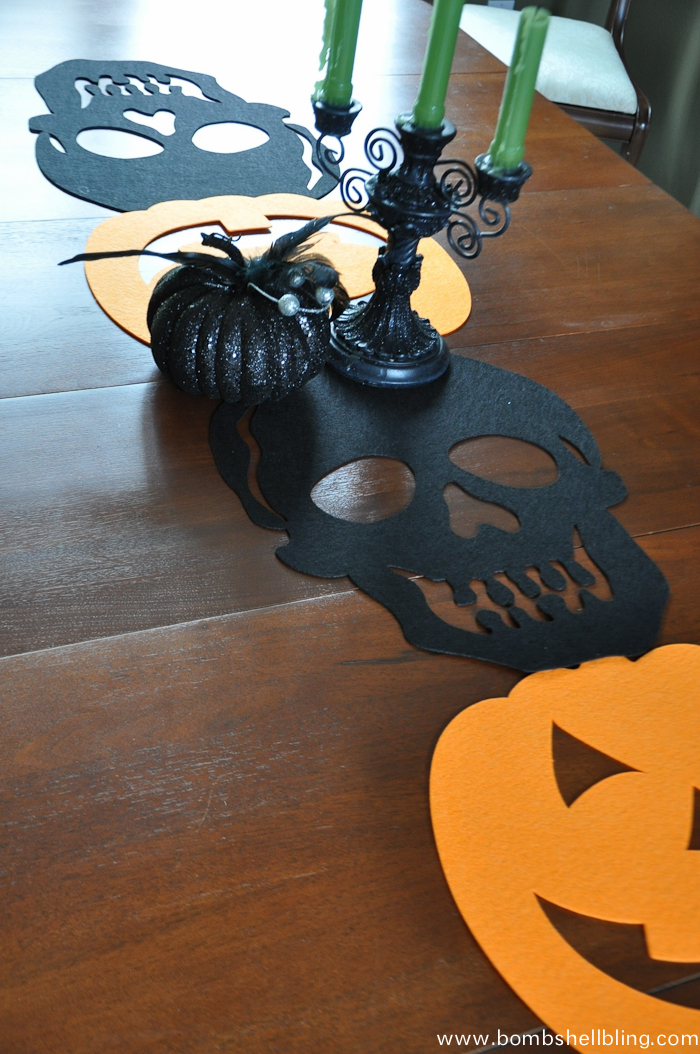 Halloween Felt Table Runner-2