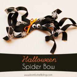 Halloween Spider Bow