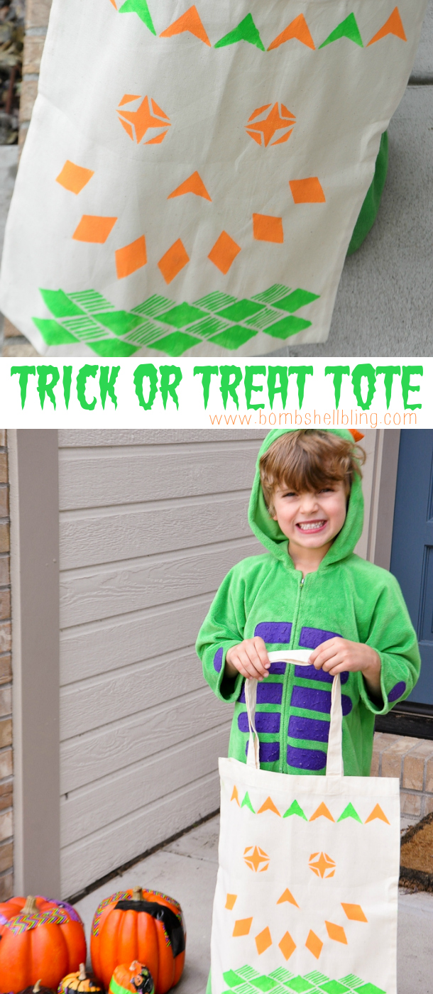 Stenciled Trick or Treat Tote