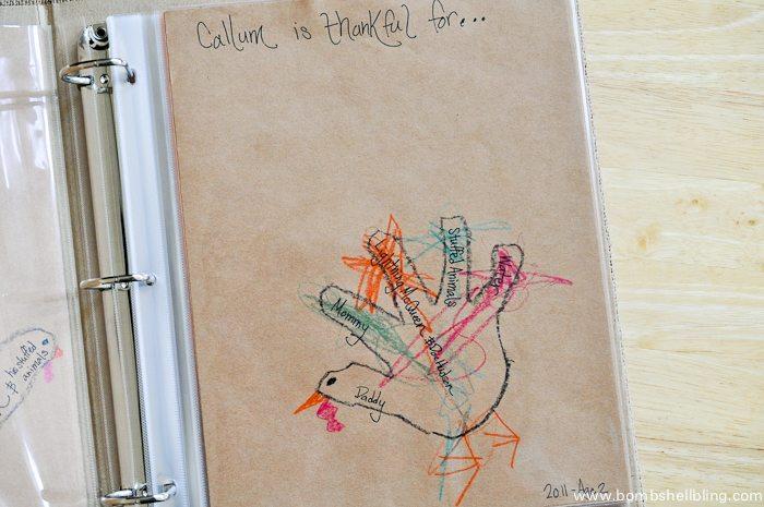 I love this Thanksgiving tradition of gratitude hand turkeys!